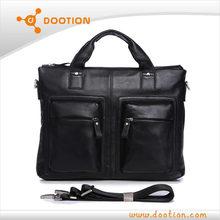 High end genuine leather mens laptop bag