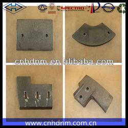 cement mixer plant wear resistant parts,parts for mixer truck