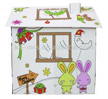 christmas cardboard playhouse foldable playroom for kids top model