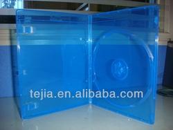 PP 7mm single dvd case cd box holder black blue ray cases