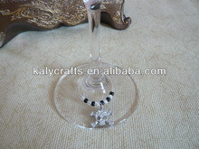 2013 new products skull with diamond drinking charms