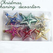 decorative plastic hanging christmas star small