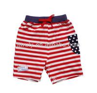 White red striped boys sport short pants