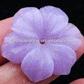 Abbastanza semi- pietra preziosa intagliato/viola fiore intagliato