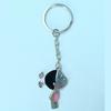 delicate cute girl keychain