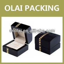 up-market luxury wood engagement ring box