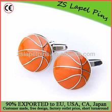 baseketball cufflink/ sports cufflink turquoise cufflinks