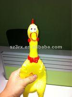 Shenzhen Promotion Shrilling Scream Rubber Chicken,Special Bellow Chicken,rubber chickens for sale