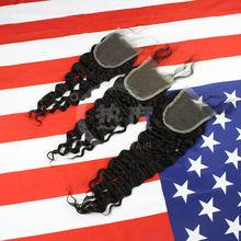2014new style 5A grade fashionable mongolian deep wave lace closure