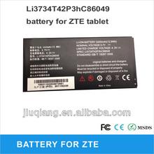 Tablet bttery Li3734T42P3hC86049 for ZTE 3400mah