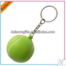 Promotion customized pu golf keychain