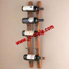 wall-mounted wooden red wine bottles holder/indoor decorative hanging whiskey shelf display rack/custom wooden wine shelf