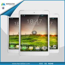 7.85Inch 1024*768 IPS Panel MTK 6589 Quard Core,1G+8G,GPS Bluetooth 3g sim slot tablet(MM872-2'')