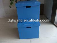 plastic handle cardboard box