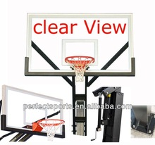 Adjustable Clear View Basketball Hoop/System
