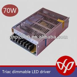 12V 24V constant voltage strip light 70w led driver,triac dimmable 70w led driver