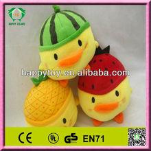 HI CE promotion yellow chicken plush toy wholesale plush toys