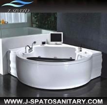 Hangzhou Top Sanitary Ware Manufacturer Supplying Whirlpool Bathtub With Pillow