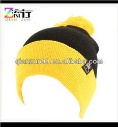 Men's Winter Stretch Knit Pom Pom Cuff Beanie Skull Ski Hat