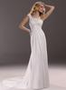 Cheap new lace top custom-made 2014 chiffon beach wedding dress CWFaw5600