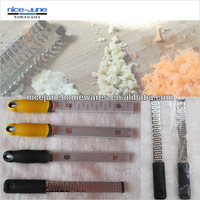 FDA standard Kitchen grater with soft-grip handle and PVC cover