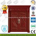 puerta de hierro principal de diseños en madera