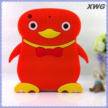 Penguin Cartoon silicone back case soft For ipad mini 3D case