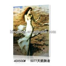 diy canvas oil painting 40*50cm Swan dancer