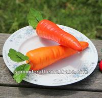 Decorative fake carrot vegetable salad decoration