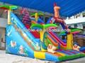 Barato inflable bosque de diapositivas para los niños
