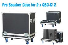 ST Dual ATA Aluminum QSC K15 Speaker Road Case Flight case with foam & Caster