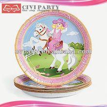 un buon servizio compleanno tema del partito piastre Cenerentola pranzo piatti a forma di cartone animato stampato partito piatto di carta