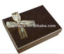 metallic cardpaper chocolate packaging boxes with hot stamping logo