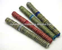 Jute Thread weaved Handmade Pens with matching Cap - Refillable