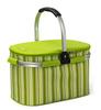 20 liter cooler basket newest style green color 300D ployester PEVA liner insulated cooler folding picnic cooler basket