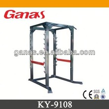 Casting iron & rubber cover commercial fitness equipment KY-9108/squat rack