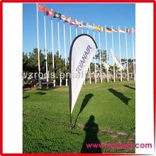 China best flag supplier!beach flag pole 3m