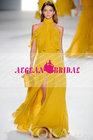 MW-6 Elie Saab yellow halter evening dress 2014 Vestido de noche