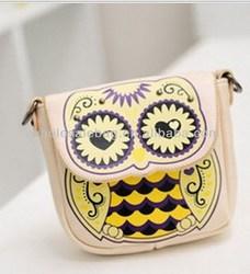 Cheap Cute Sling Bag Cross Shoulder Bag Owl Messenger Bag For Girls Women Ladies