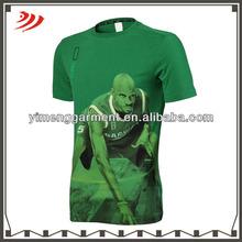A310 3d printing t shirt basketball star for men cotton t shirt