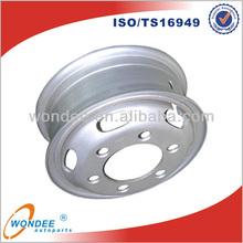 China 20 Inch 8 Bolt Steel Truck Rim Tube Wheel