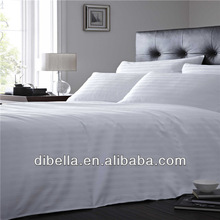 Motel white cotton bedding fabric for sheeting