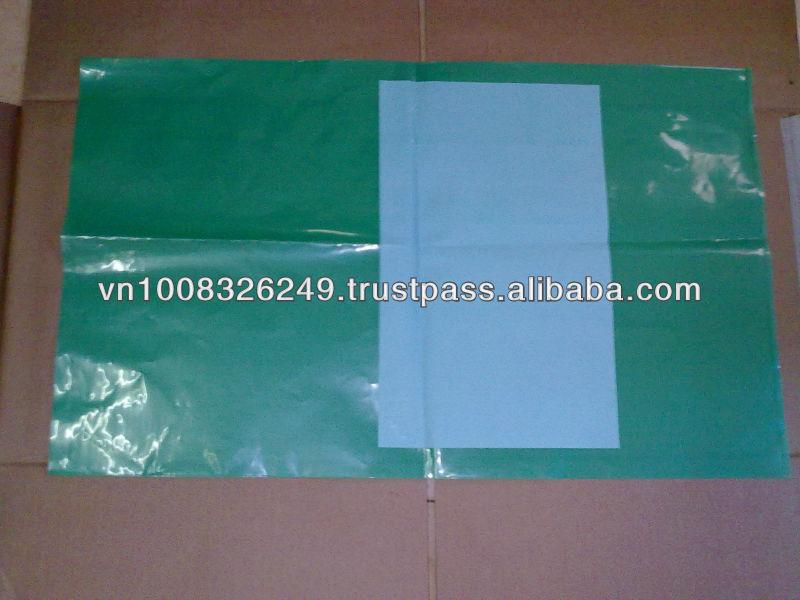 Green Flat Plastic Bag for Food.