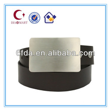 Stylish silver-brushed belt buckle on sale