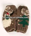 Lovely girls knitted mittens for Christmas