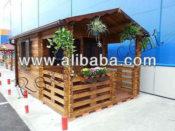 Casute de lemn cu terasa Casuta BRAN