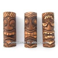 Custom artificial wood polyresin/ resin tiki statue