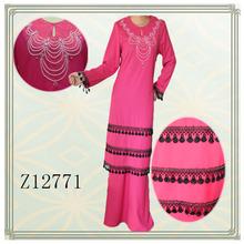 Fashion beading 2013 design baju kurung