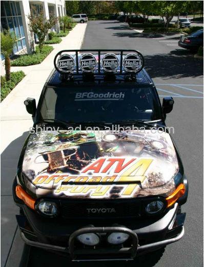 car cover pvc sticker