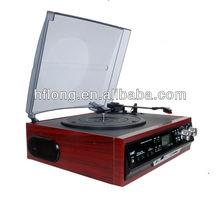 good price turntable cd record cassette radio player